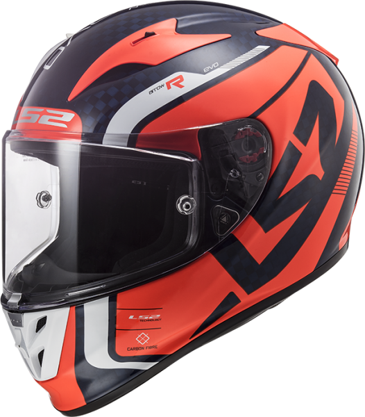 LS2 Carbon Helm FF323 ARROW C STING BLUE FLUO ORANGE