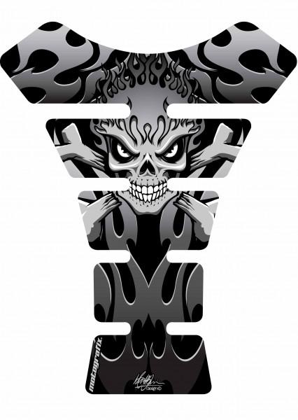 Motografix Tankpad schwarz-silber Street Style universal SPINE - UNIVERSAL