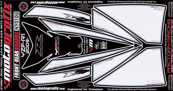 Motografix Aufkleberset Front YAMAHA R1 Bj. 09-14
