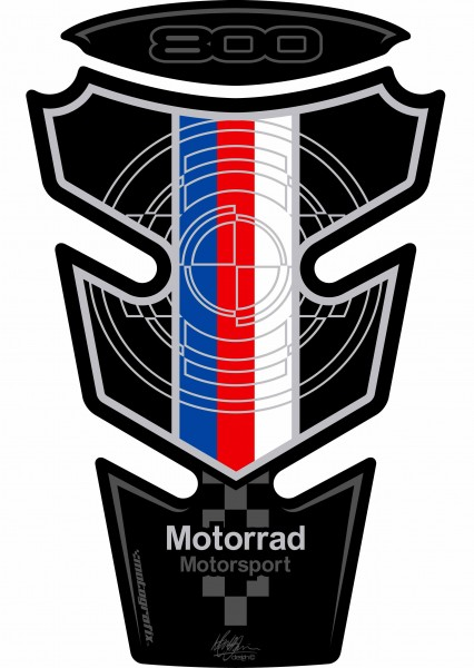 Motografix Tankpad Motorsport schwarz BMW F800R / S / ST Bj. 06-