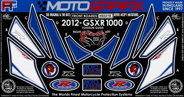 Motografix Aufkleberset Front Suzuki GSXR 1000 Bj. 12-