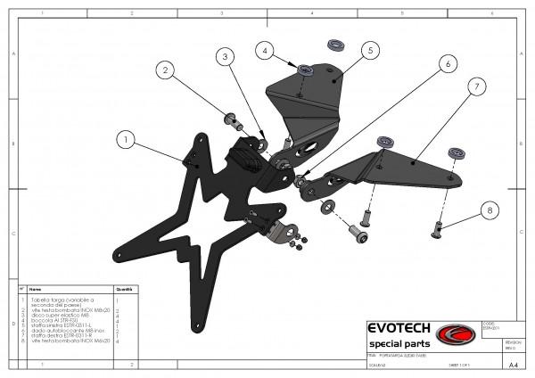 Evotech Kennzeichenhalter Suzuki SV 650 / S Bj. 03-08