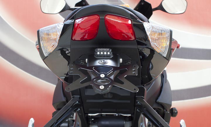 Evotech Motorrad Kennzeichenhalter Suzuki GSX-R 600 / 750 Bj. 11-