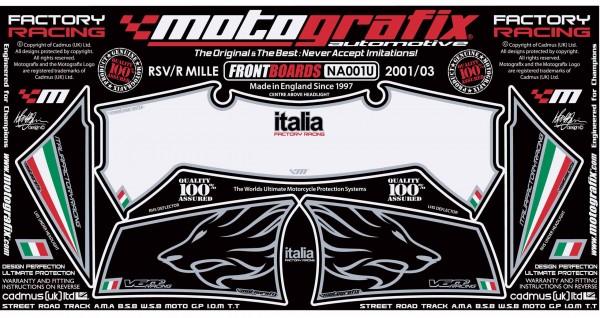 Motografix Aufkleberset Front aprilia RSV Mille 1000 / R Bj. 02-03
