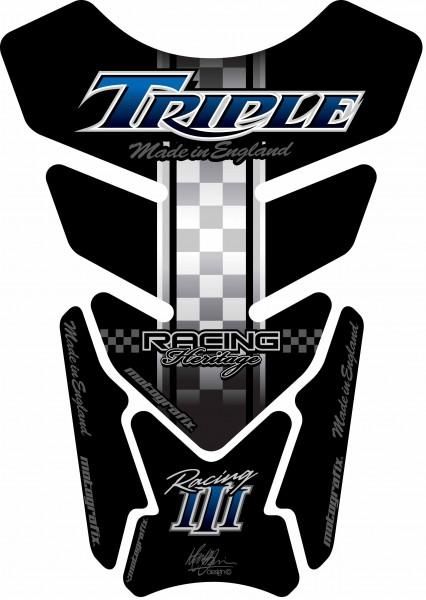 Motografix Tankpad schwarz-blau Triumph universal QUADRA - UNIVERSAL