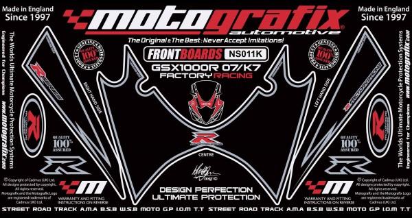 Motografix Aufkleberset Front Suzuki GSXR 1000 Bj. 07-08