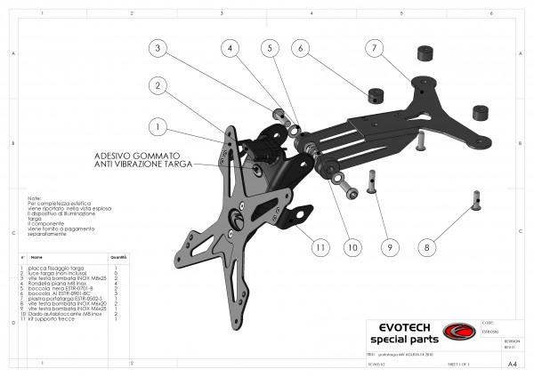 Evotech Kennzeichenhalter MV Agusta F4 1000 Bj. 10-