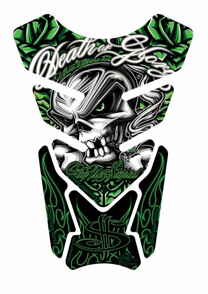 Motografix Tankpad grün Street Style universal QUADRA - UNIVERSAL