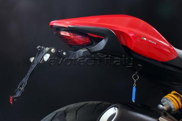 Evotech Kennzeichenhalter Ducati Monster 821/Dark/Strip/1200R/1200R Stripe Bj. 2014- Bj.