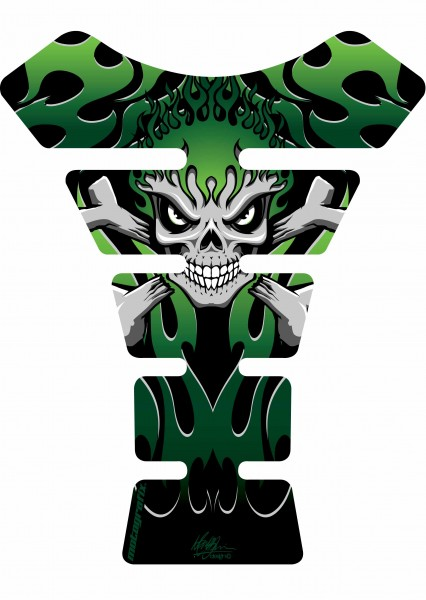 Motografix Tankpad grün Street Style universal SPINE - UNIVERSAL