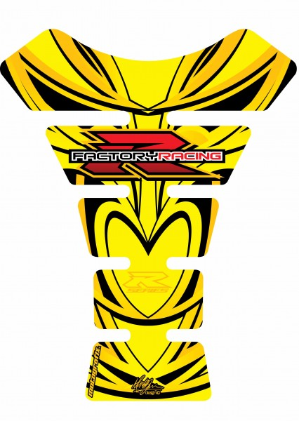 Motografix Tankpad gelb Suzuki universal SPINE - UNIVERSAL