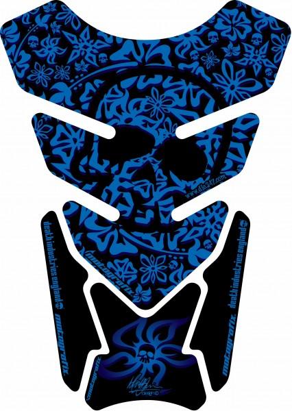 Motografix Tankpad blau Street Style universal QUADRA - UNIVERSAL