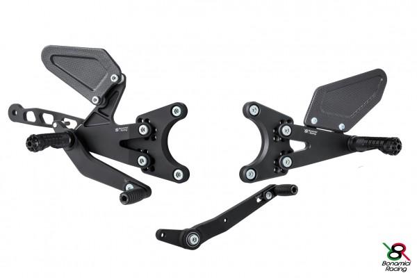 Bonamici Racing Fußrastenanlage Zubehör Upgrate Kit Carbon Fersenschützer