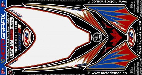 Motografix Aufkleberset Front Honda CBR 1000 RR Bj. 08-